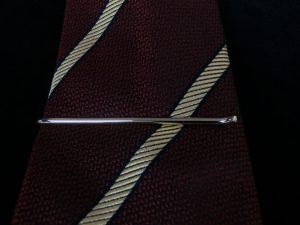 narrow tie slide -round bar-2