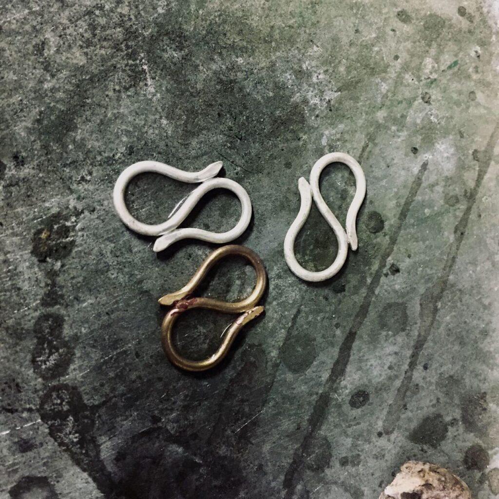 スキニースカーフ用のリング制作